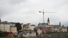 Time Lapse of Luxembourg City Skyline - Luxembourg Europe Stock Footage