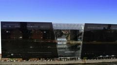 Den Sorte Diamant building of Copenhagen Stock Footage