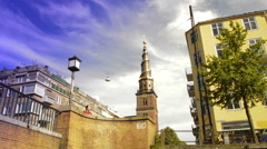 Church of Our Saviour in Copenhagen Stock Footage