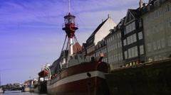 Ships of Nyhavn Stock Footage