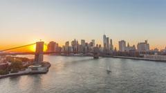4K Timelapse of the sunset Manhattan, New York Stock Footage