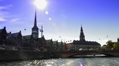 The Stock Exchange in Copenhagen Stock Footage