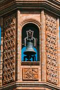 Close up of The Moorish Revival Chapel of El Carmen in Seville - stock photo