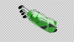 Loop rotate Golf clubs drivers with alpha Stock Footage