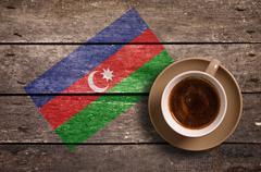 Azerbaijan flag with coffee Stock Photos