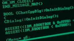 Program Code Stock Footage