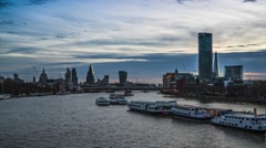 Time lapse of London city Stock Footage