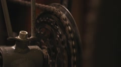 Transmission speed a bicycle and circuit rear repair wheel - stock footage