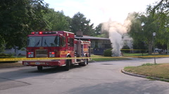 Hydro electrical transformer on fire on hot summer day in Toronto Stock Footage