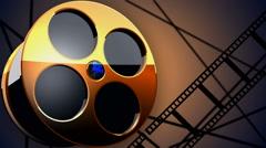 film reel background V1 - stock footage