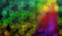 abstract background of light and color rainbow bokeh - stock photo