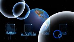 Background for graphical display of changes Earth Stock Footage
