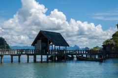 Khao Phing Kan Island Pier near Tapu Island (James Bond Island) Kuvituskuvat