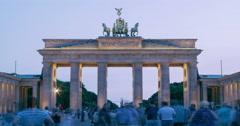 Brandenburg Gate of Berlin Germany - stock footage