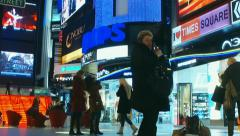 "Buyers and people before Christmas in the mall ""Vegas"" Stock Footage"