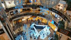 Buyers and people walking in the Interior AFIMALL CITY Stock Footage