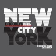 New York city t-shirt - stock illustration
