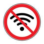 No free wi-fi icon Stock Illustration