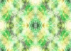 Seamless symmetrical pattern to the center - stock illustration