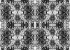 Seamless symmetrical pattern to the center Stock Illustration