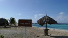 Baby Beach on Aruba Stock Footage