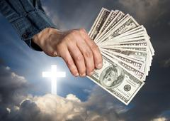 Stock Photo of Religion as a business