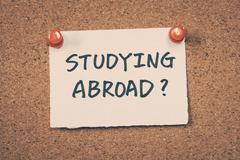 Studying abroad - stock photo