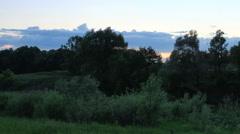 Sunset on the river Myosha. Kulaevo village, Republic of Tatarstan, Russia Stock Footage
