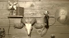 Western Pioneer's cabin Stock Footage