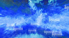 A sea of depression loop Stock Footage