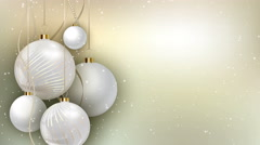 Christmas Decorations Snowy Scene Stock Footage