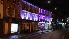 English pubs at night, Reading, England, Europe Stock Footage