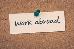 Work abroad - stock photo