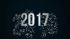 2016 - 2020 new year text credits. Stock Footage