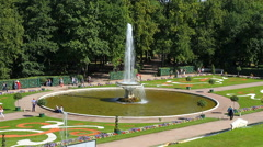 Fountain at the Palace, St. Petersburg, Peterhof, Russia. - stock footage