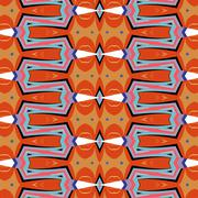 Bright, attention-grabbing pattern in the sixties style Stock Illustration
