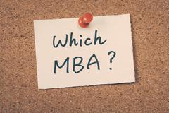 Which MBA - stock photo
