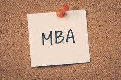 MBA - stock photo