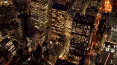 Aerial establishment shot of new york city skyline. business buildings district Stock Footage