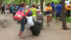 Stock Video Footage of University and college students move in residence at Ryerson campus in Toronto