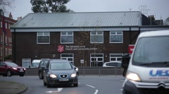 Salvation Army building in Reading, England - stock footage