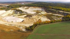 Kaolin quarry and ceramics factory. Stock Footage