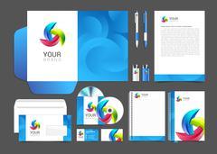 Corporate identity template company style brandbook Stock Illustration