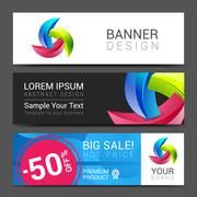 Colorful modern text box template for website computer Stock Illustration
