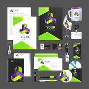 Stock Illustration of corporate identity creative color template design, business.