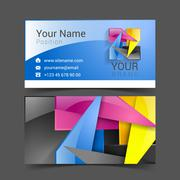 Business card creative design template Corporate Identity logo Stock Illustration