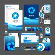 Corporate identity template water drop brandbook guideline Stock Illustration