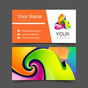 Business card creative design template Corporate Identity logo Piirros