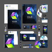Corporate identity creative color template design, business. Piirros