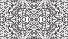 Seamless Abstract Tribal Black-White Pattern. Hand Drawn Ethnic Texture. Vect - stock illustration